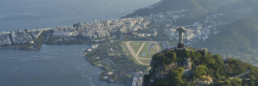Aerial shot of Rio de Janeiro, Brazil