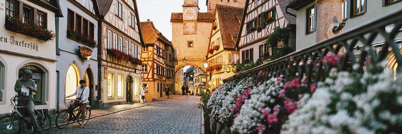 A street in Rothenburg ob der Tauber, Germany