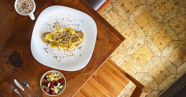 Simple country breakfast in Uruguay
