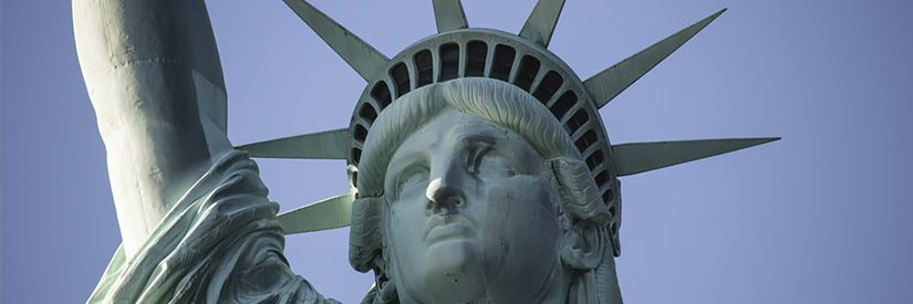 Close-up of the Statue of Liberty in New York City